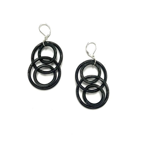 black large loop earring