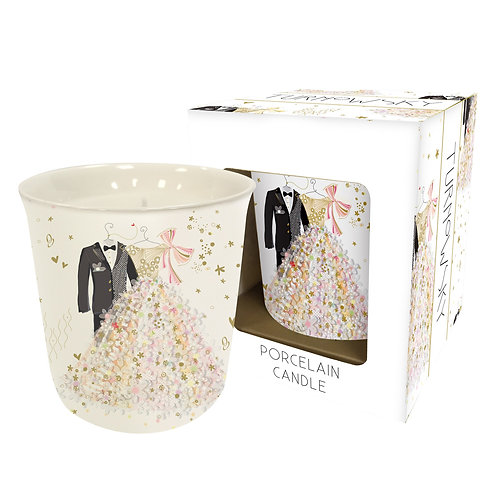 TURNOWSKY WEDDING PORC CANDLE IN BOX