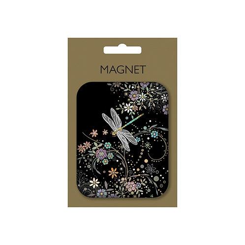 BUG ART DRAGONFLY MAGNET ON CARD, Min Qty: 12