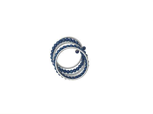 blue geode stones on wrap around bracelet