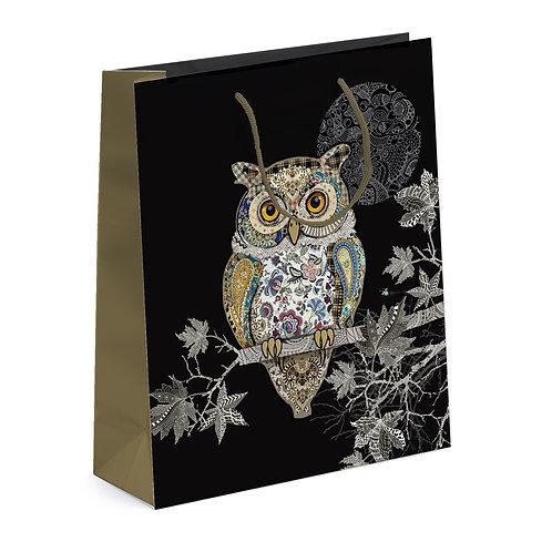 BUG ART OWL LGE GIFT BAG, Min Qty: 6