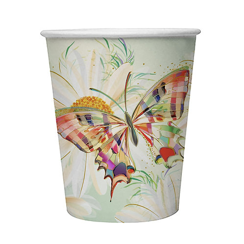 TURNOWSKY BUTTERFLY  8 X 9oz BIODEGRADABLE CUPS