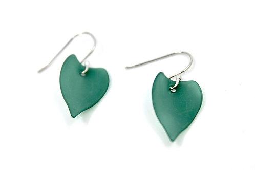 green leaf earring