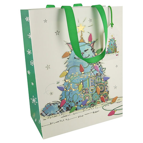 BUG ART CAT TREE MED GIFT BAG, Min Qty: 6