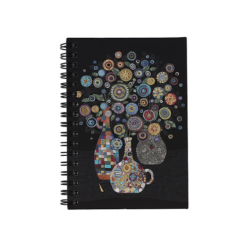 BUG ART VASE OF FLOWERS A6 NOTEBOOK, Min Qty: 6