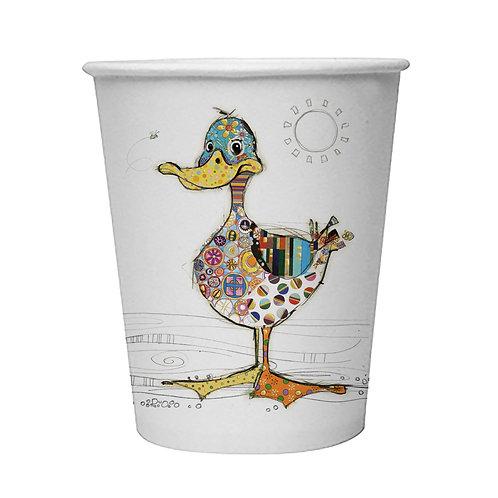 BUG ART  DOTTY DUCK  8 X 9oz BIODEGRADABLE CUPS, Min Qty: 12