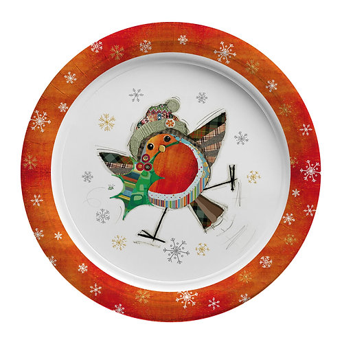 BUG ART ROBIN  8 X 9INCH BIODEGRADABLE PLATES, Min Qty: 12