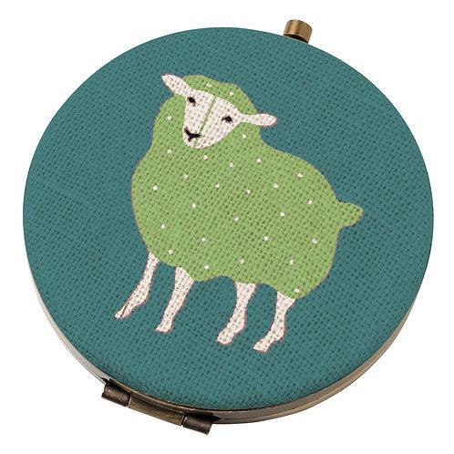 PEONY SHEEP COMPACT MIRROR, Min Qty: 6