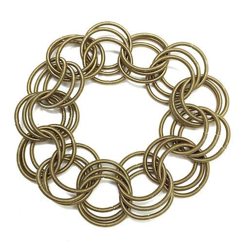 bronze spring ring bracelet