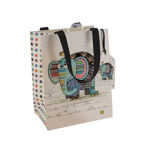 BUG ART ELEPHANT MED GFT BAG, Min Qty: 6
