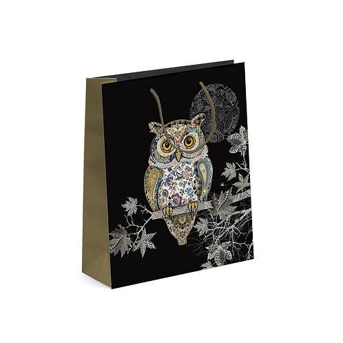 BUG ART OWL MED GIFT BAG, Min Qty: 6