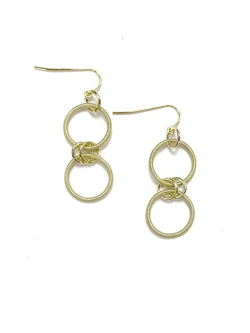 Gold Double Looped Earring