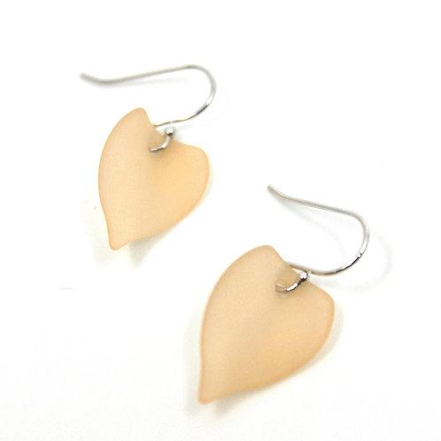 beige leaf earring