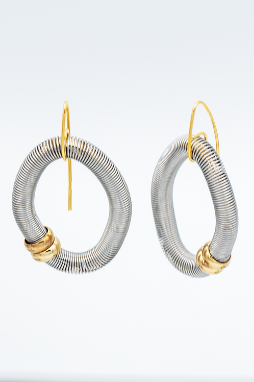 silver diamond shaped wire earring