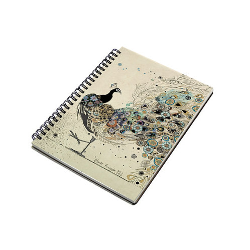 BUG ART PEACOCK A6 SPIRAL BOUND NOTE BOOK, Min Qty: 6