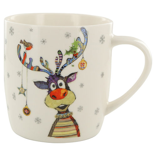 BUG ART RUDOLPH EMBOSSED MUG IN BOX, Min Qty: 3