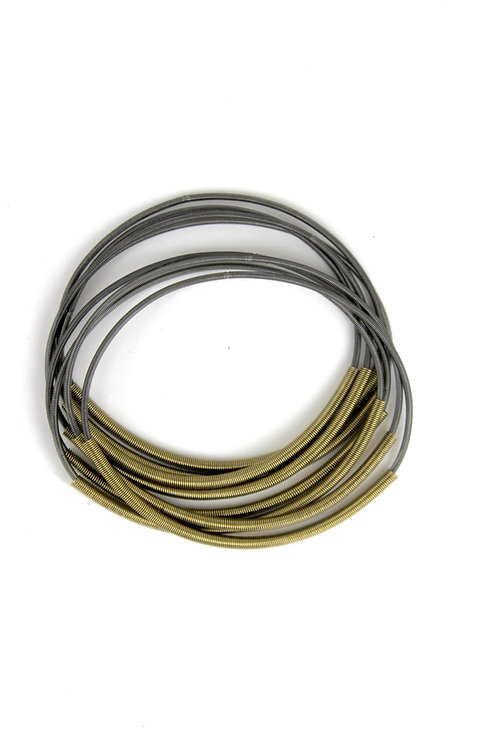 slate pw bracelet with bronze sleeve