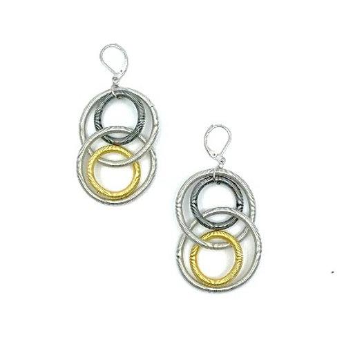 multi large loop earring