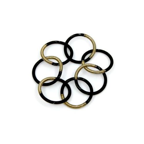 black/bronze single loop bracelet