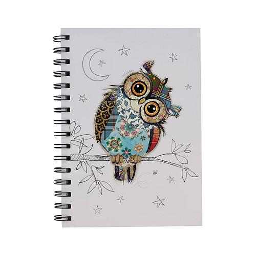 BUG ART A5 OWL NOTEBOOK, Min Qty: 6