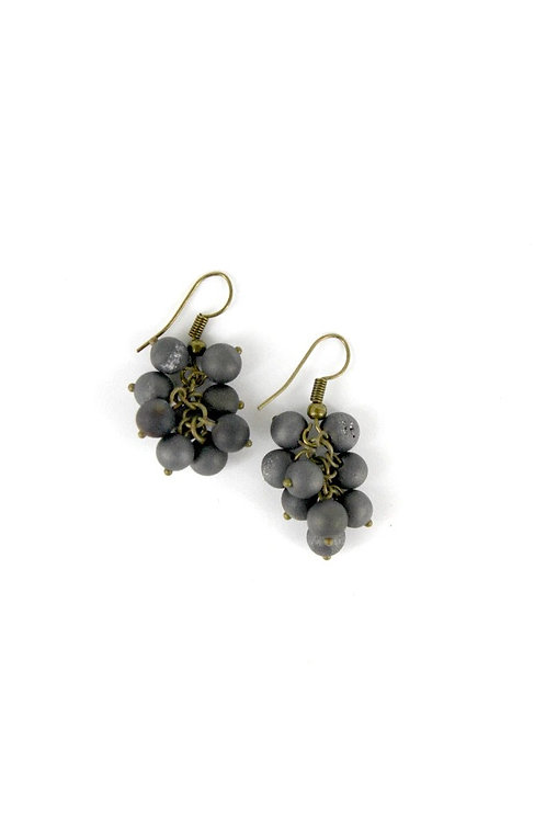 earring grape bronze/gray