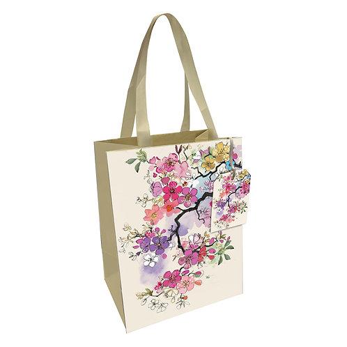 BUG ART PINK BLOSSOM MED GIFT BAG, Min Qty: 6