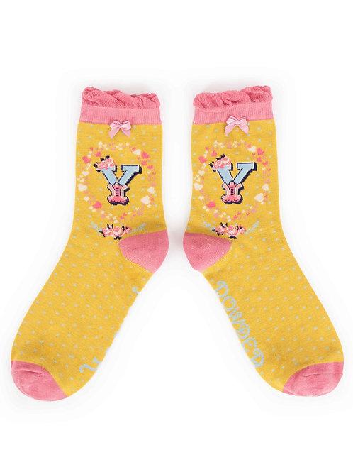 Letter Y Socks