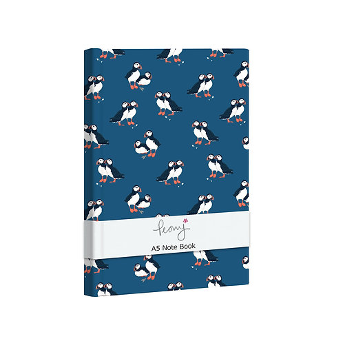 PEONY PUFFIN A5 NOTEBOOK, Min Qty: 6