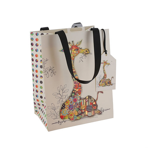 BUG ART GERRY GIRAFFE MED GIFT BAG, Min Qty: 6