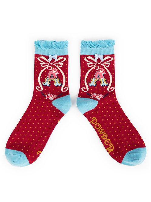 Letter A Socks