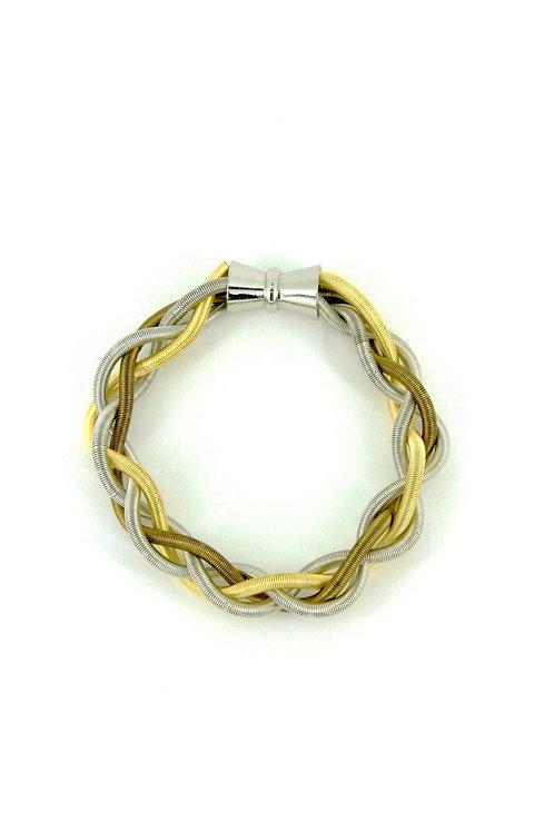 multi braided bracelet with magnet
