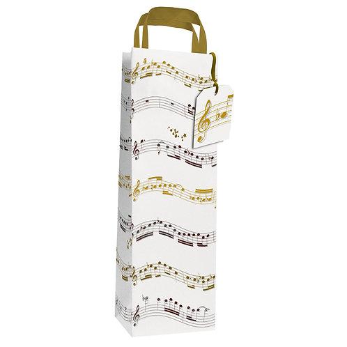 DAVINCI MUSIC NOTE BOTTLE GIFT BAG , Min Qty: 6