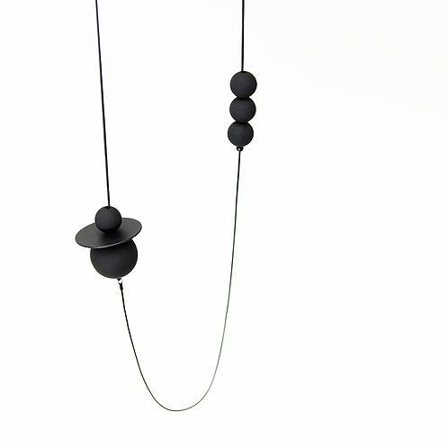 Astro Long Necklace Matte Black
