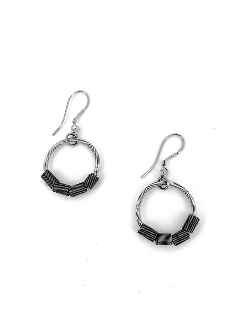 small slate dash loop piano wire earring