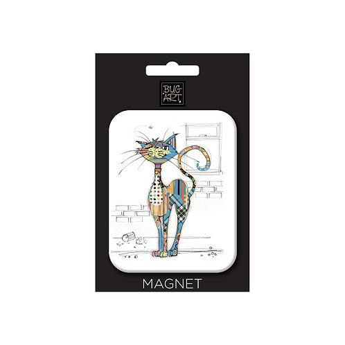 BUG ART KOOKS CAT MAGNET, Min Qty: 12