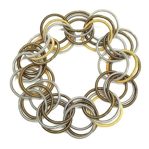 multi spring ring bracelet