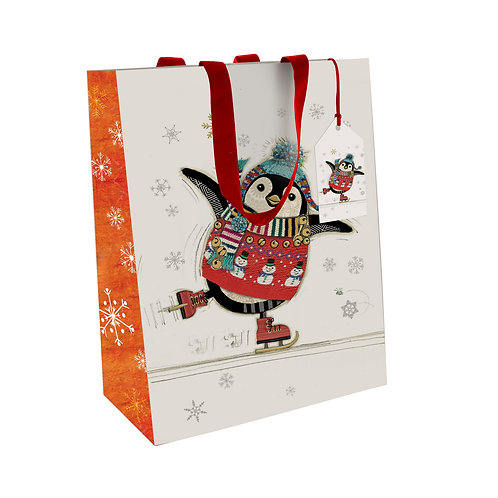 BUG ART PENGUIN LGE GIFT BAG, Min Qty: 6