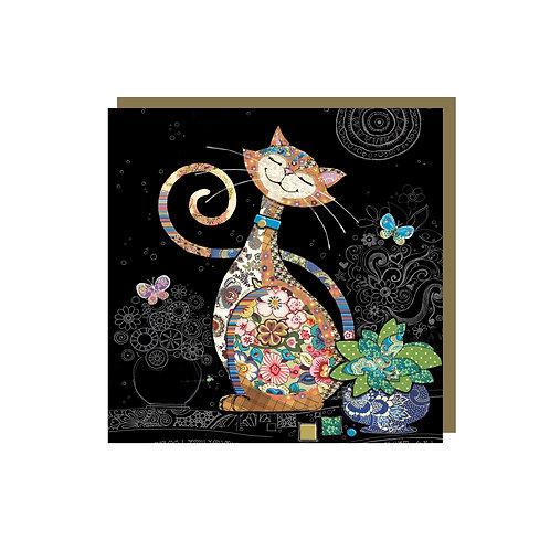 BUG ART CAT MINI CARD, Min Qty: 12
