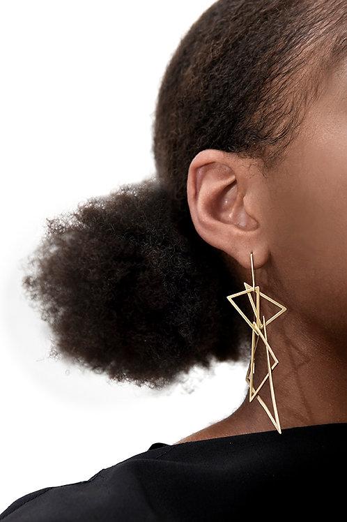 Apex Earrings (Satin Gold)