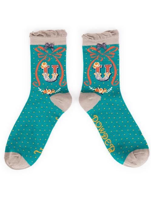 Letter U Socks