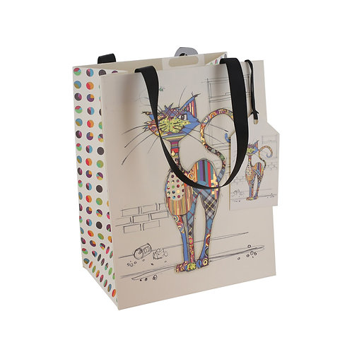 BUG ART COLA CAT MED GIFT BAG, Min Qty: 6