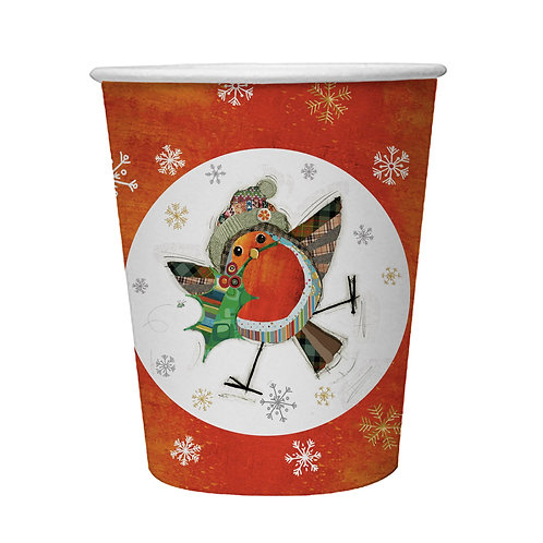BUG ART ROBIN  8 X 9oz BIODEGRADABLE CUPS, Min Qty: 12