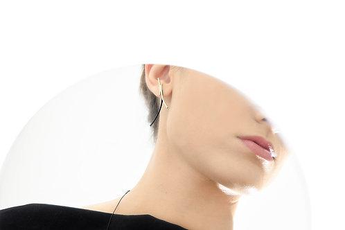 Crescent Ear Jackets Gold Black