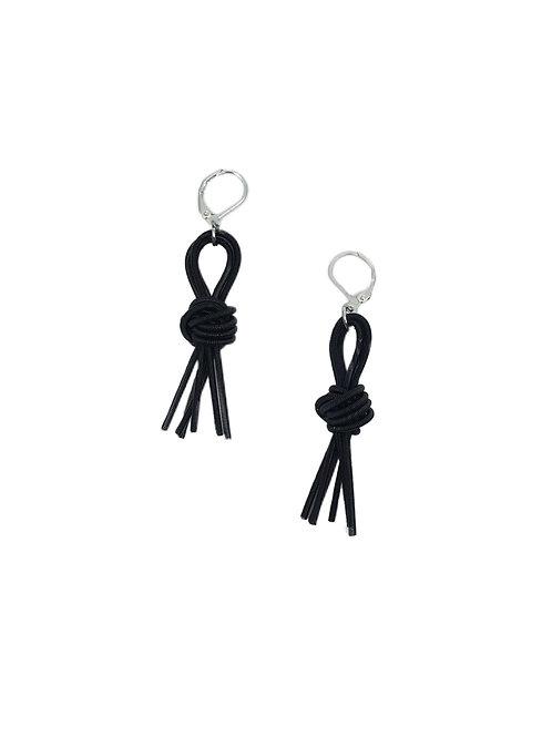 black knot tassel earring