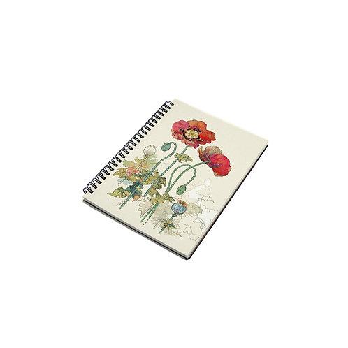 BUG ART POPPY A6 SPIRAL NOTEBOOK, Min Qty: 6