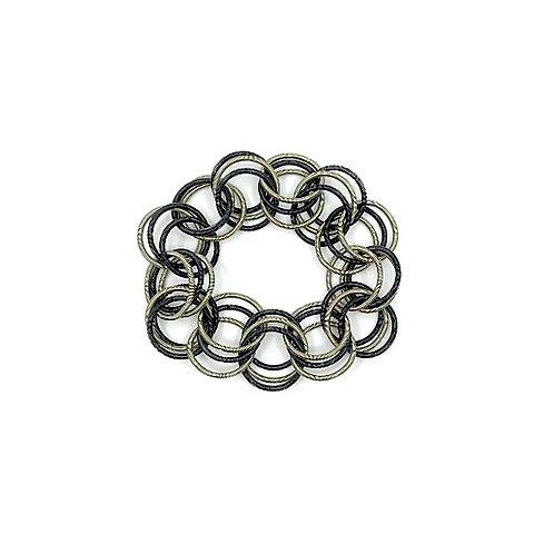 black and bronze spring ring bracelet