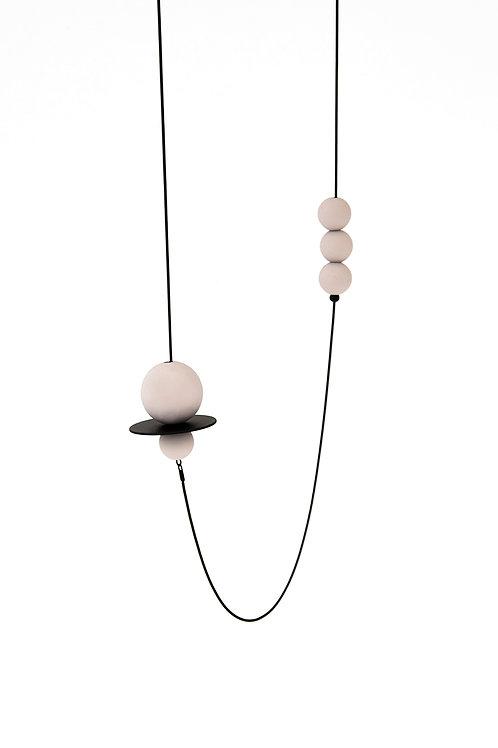 Astro Long Necklace Black Blush