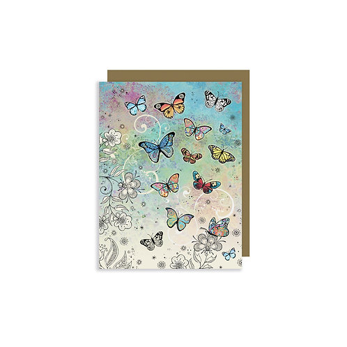 BUG ART BUTTERFLIES MINI CARD W/ENVELOPE, Min Qty: 12