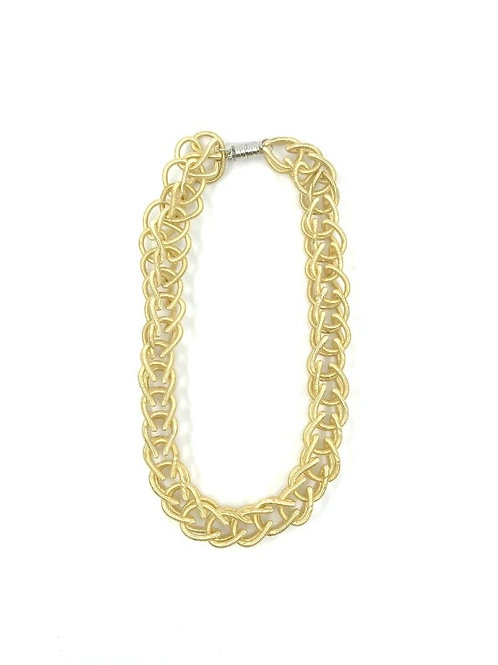 bright gold chain link necklace