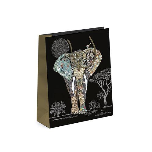 BUG ART ELEPHANT MED GIFT BAG, Min Qty: 6